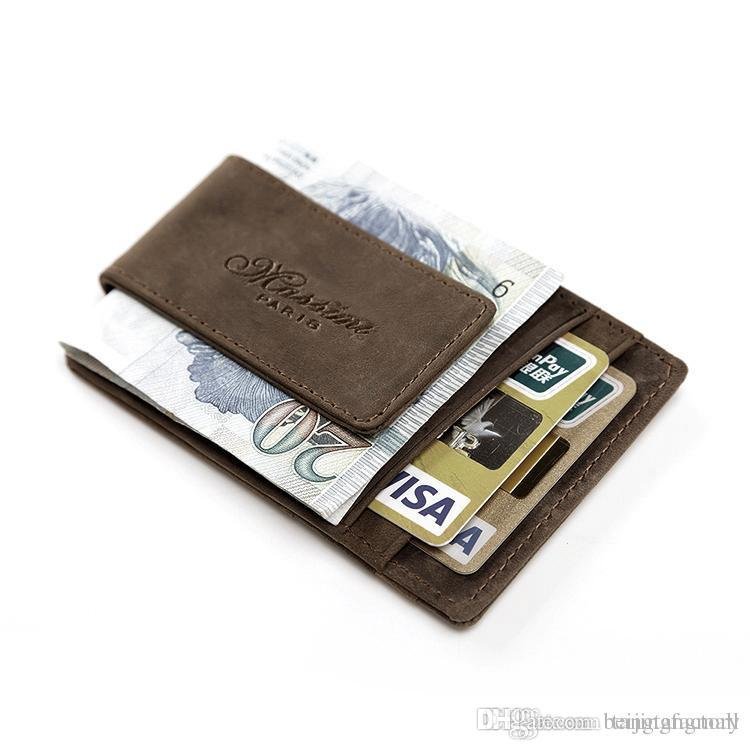 Teemzone Men Genuine Leather Wallet Business Casual Credit Card Id ...