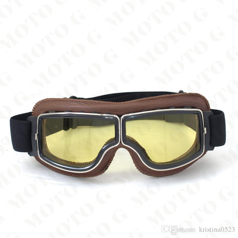 e8a69d4faf Compre 2017 NUEVA Llegada Segunda Guerra Mundial Vintage Harley Gafas De  Moto De Estilo Piloto Moto Gafas Retro Jet Casco Eyewear 4 Lente De Color A  $11.37 ...