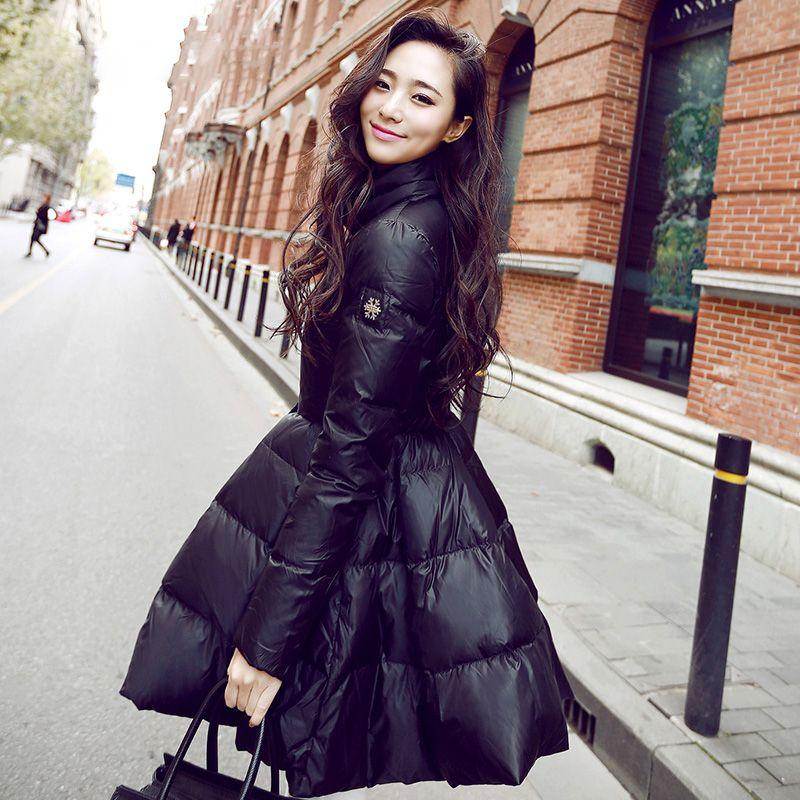 2015 High Quality White Duck Down Jacket Women'S Medium Long ...