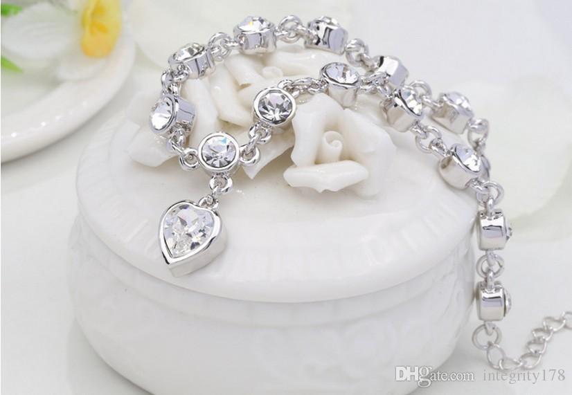 2015 new!!! European and American style Jewelry Crystal Bracelet Charm Bracelets 25cm length crystal bracelets