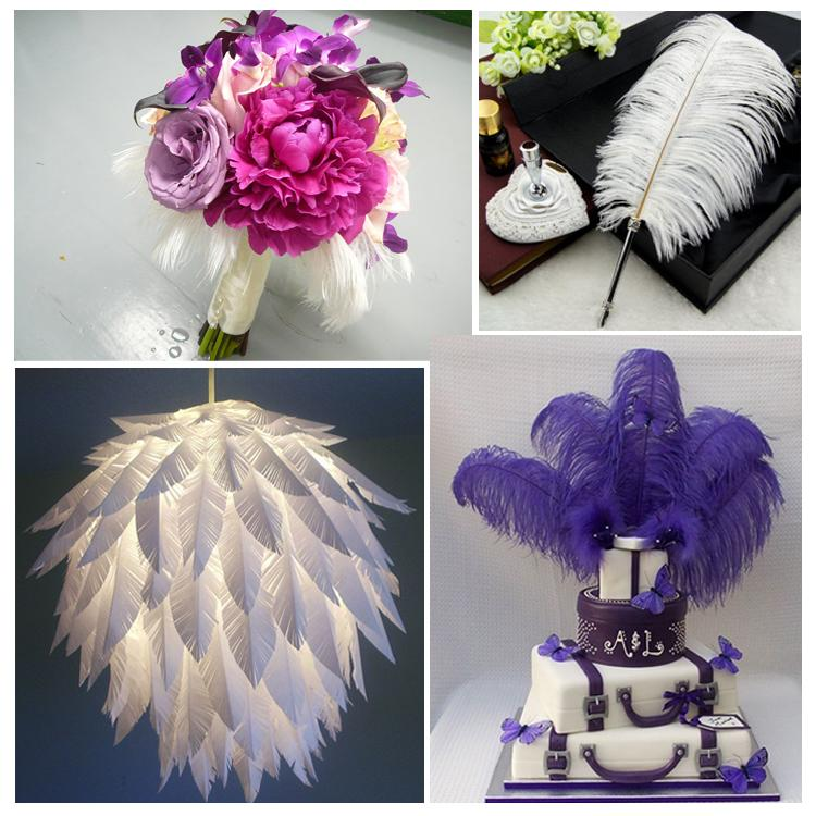 Venta al por mayor 70-75 cm / 28-30 pulgadas Plumas de plumas de avestruz de poste grande blanco para centro de mesa de centro de mesa de boda