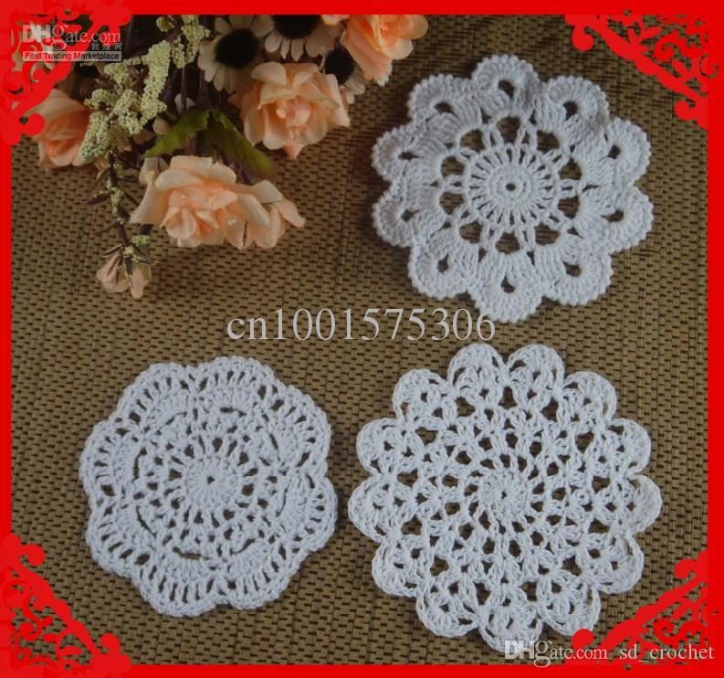 Wholesale Round Small Crochet Pattern Doily Hand Made Crochet Cup