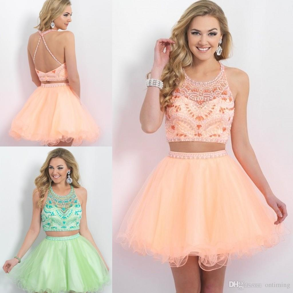 Two Pieces Short Graduation Dresses For Grade 8th High School ...