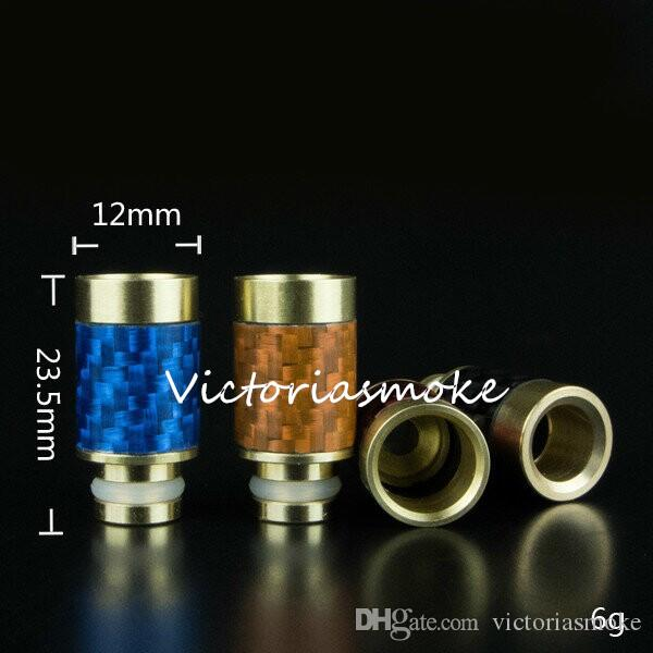 Carbon Fiber & Stainless steel Drip Tips 510 EGO Wide Bore Drip Tip for CE4 Evod DCT E vaporizer atomizer mechanical mod atomizer ego