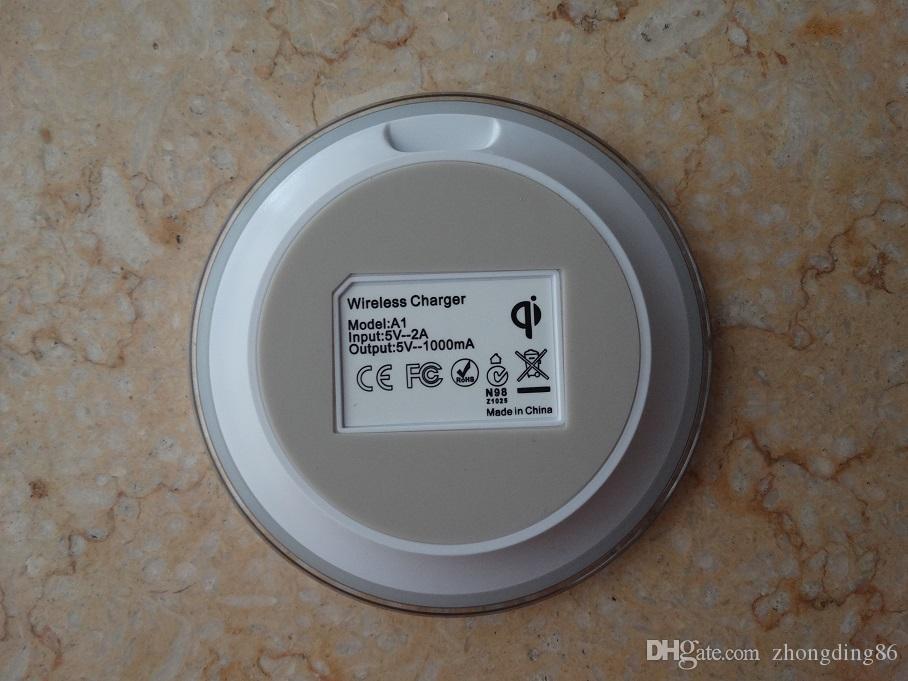 Chargeur rapide sans fil universel Qi pour Samsung Note Pad Galaxy S6 s7 Edge mobile avec logo avec emballage de détail A-SC