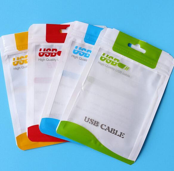 소매 패키지 가방 상자 마이크로 USB 충전기 데이터 동기화 케이블 오디오 이어폰 아이폰 6 플러스 5 4 삼성 갤럭시 S5 S6 LG 블랙 베리 포장
