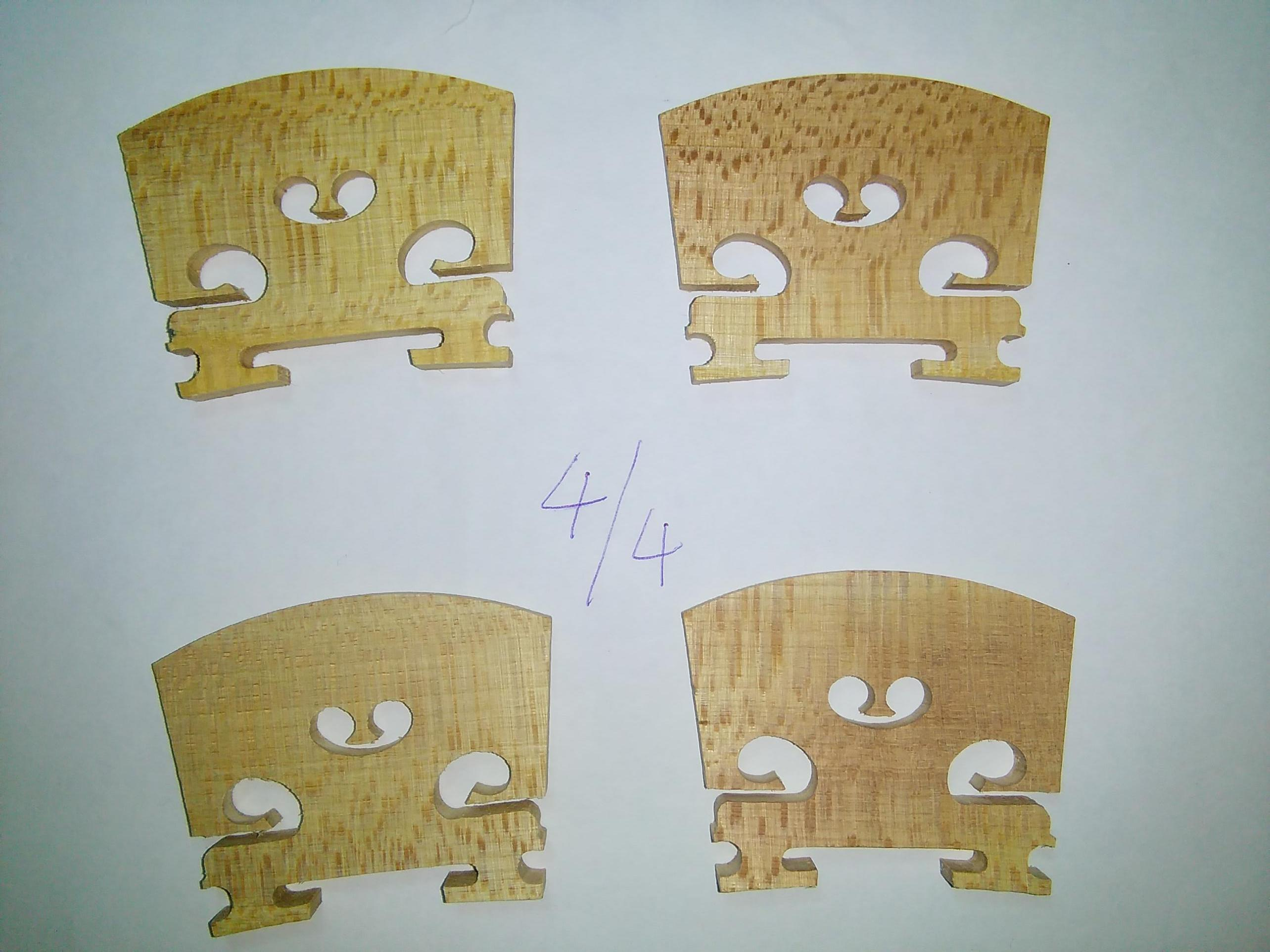 4pièces de violon hautement recommandées en bois d'érable vieilli de qualité supérieure en érable vieilli de