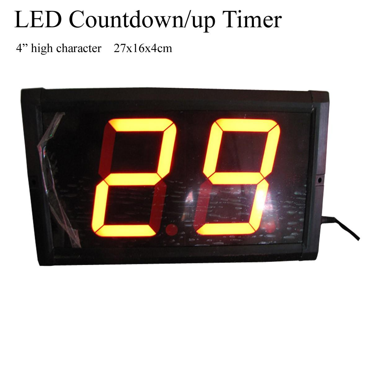 New 4 High 2 Digits Led Counter Timer Led Countdown