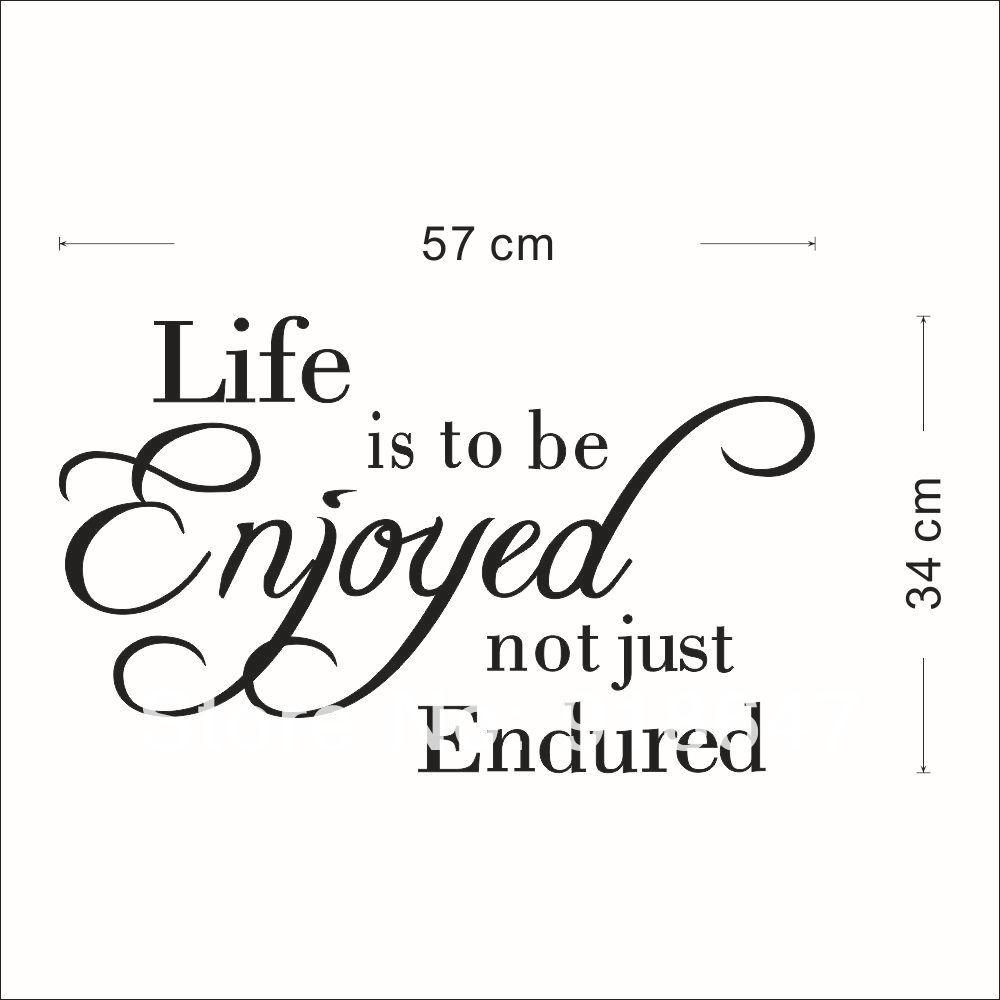Quotes Quality Sia Wholesale New High Quality English Quotes Wall Stickers Life