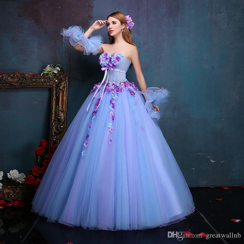 f4e904192c4 Acheter 100% Vraie Fleurs De Luxe Robe Renaissance Médiévale Sissi Robe De Princesse  Costume Gothique Victorien   Marie Antoinette   Colonial Belle Ball De ...