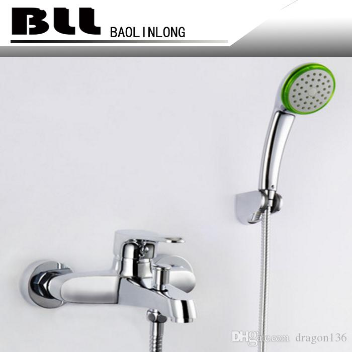 2018 Bll Tub Mixer Faucet With Wider Tap Hand Shower Round Rain ...
