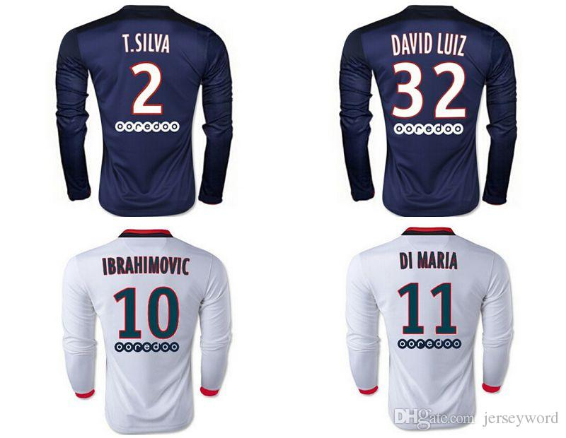 2018 Hot 2016 2017 Long Sleeve Soccer Jerseys Lucas Pastore Matuidi Cavani Verratti Survetement Football Shirts Psg 2015 16 Jersey From