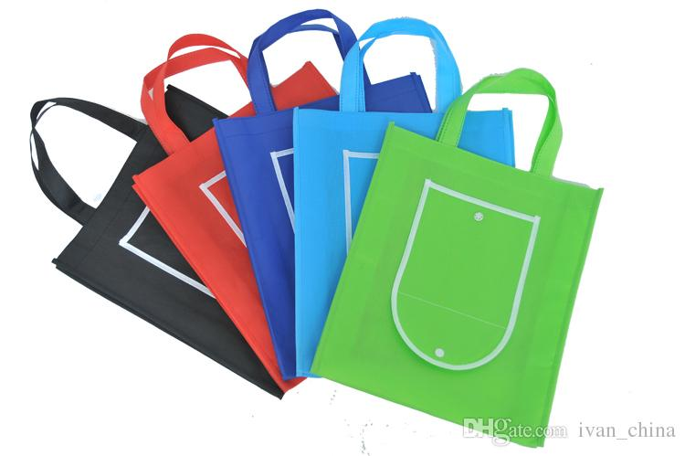 30*35*8CM Folding into wallet easy carry non woven shopping bag for gift/advertisement/party/supermaket accept custom