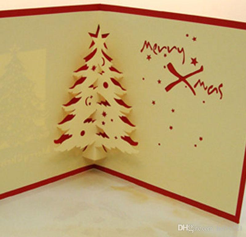 Hot Sale Pop Up Invitations Greeting Cards 3d Luxury Handmade Merry
