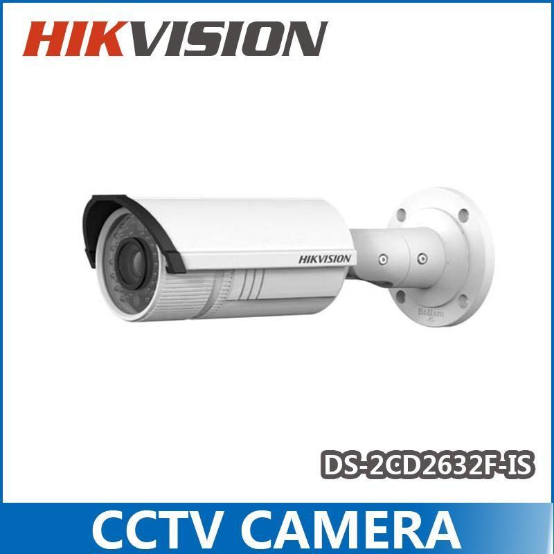 CCTV Câmera Hikvision Rede IP câmera DS-2CD2632F-IS, 3MP 2.8-12mm lente vari-focal IR, com Áudio / alarme, IP66 DS-2CD2632F-Is