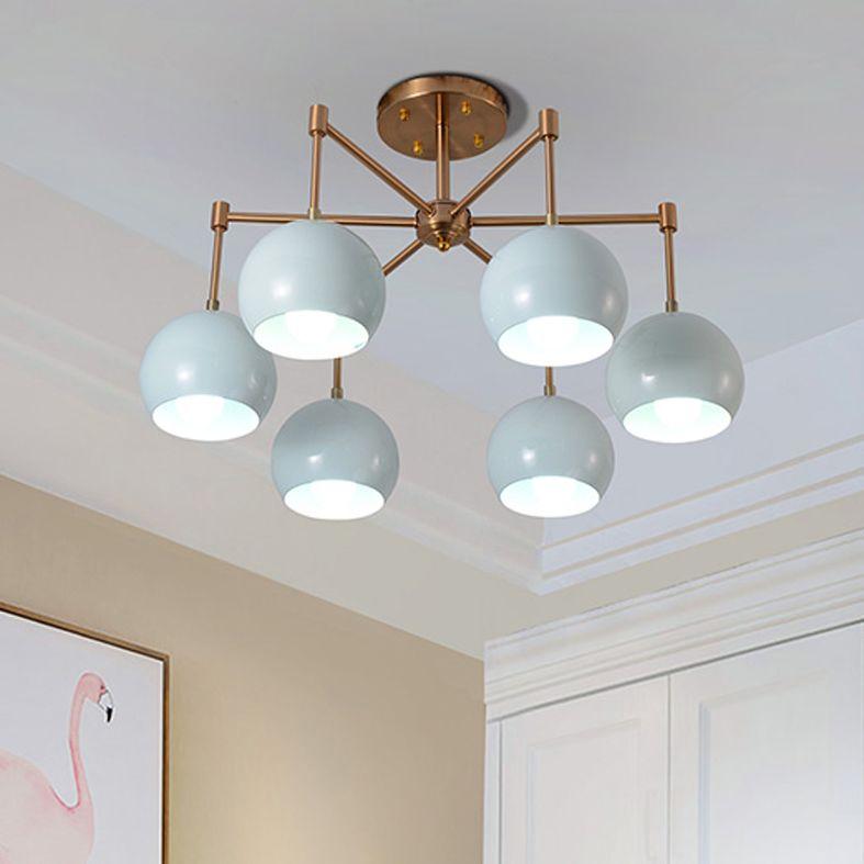 Blue Macaroons Pendant Lamps Led Lights American Vintage Pendant ...