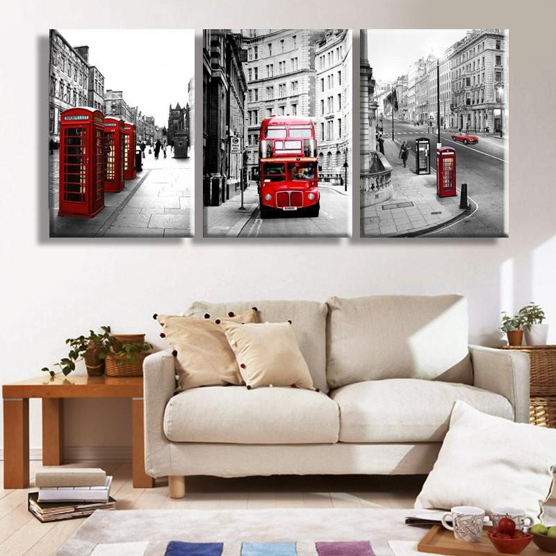 Best Modern Wall Painting London Landscape Home Decorative Art ...