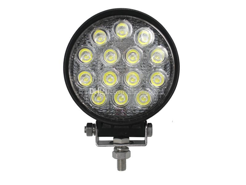 쉐이드 4.5 인치 42W LED LIGHT FLOOD 오프로드 WORK FOR LIGHT 트럭 트레일러 BOAT MOTORCYCLE 12V 24V FOG LIGHT