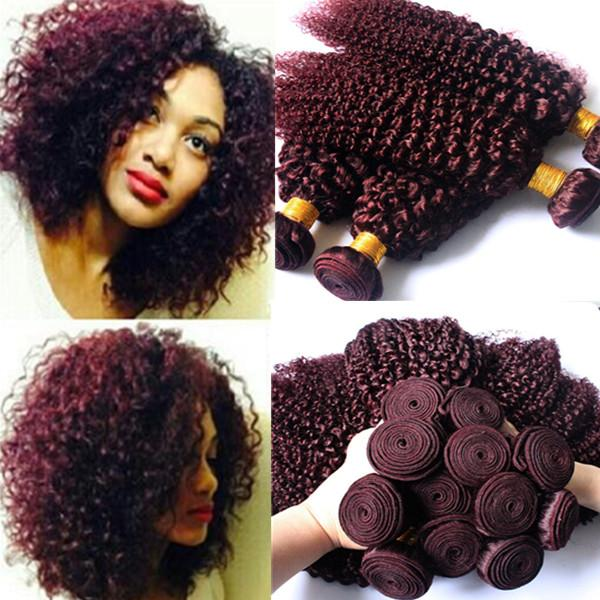 6a red brazilian virgin remy hair 99j kinky curly hair extensions see larger image pmusecretfo Choice Image