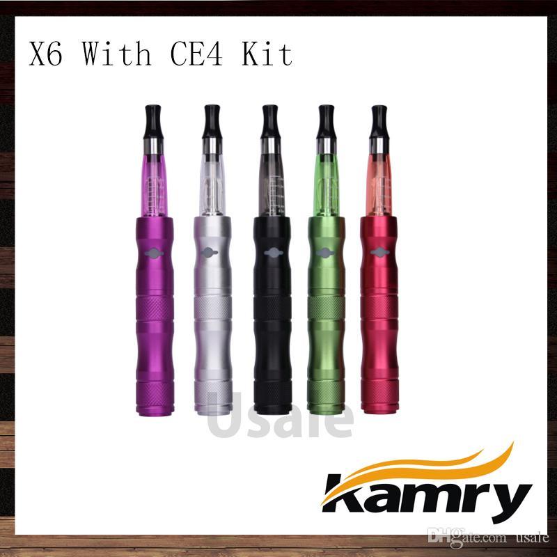 Kamry eGo X6 CE4 Kits de cigarrillos electrónicos 1300mAh X6 Batería de cigarrillo electrónico con atomizador eGo CE4 100% original