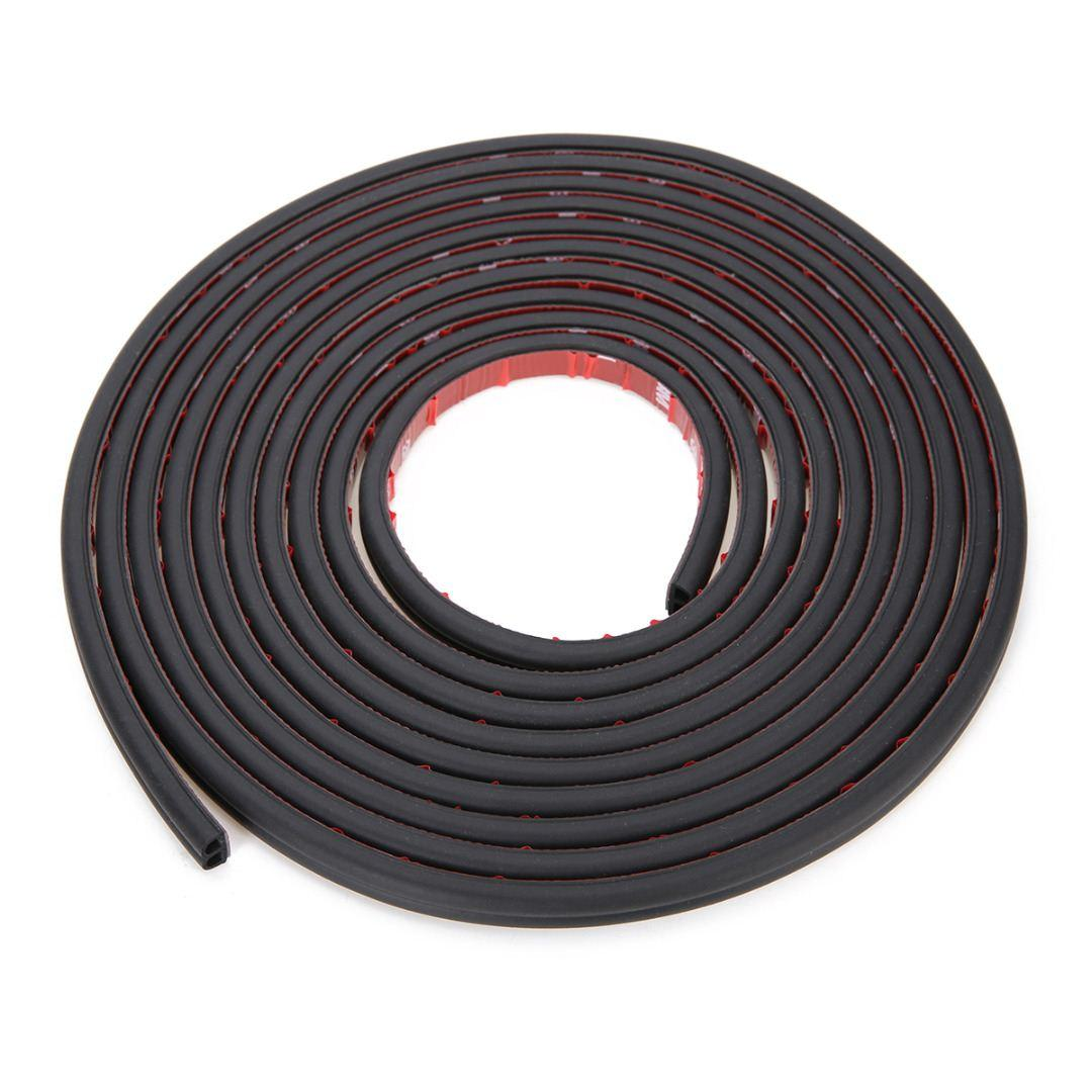 Mayitr 5M B Shape Type Rubber Car Door Seal Strip Edge Guard Moulding Trim Weather Strip Protector Car Styling