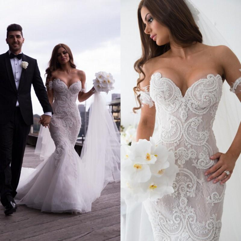 Sexy bling mermaid wedding dresses