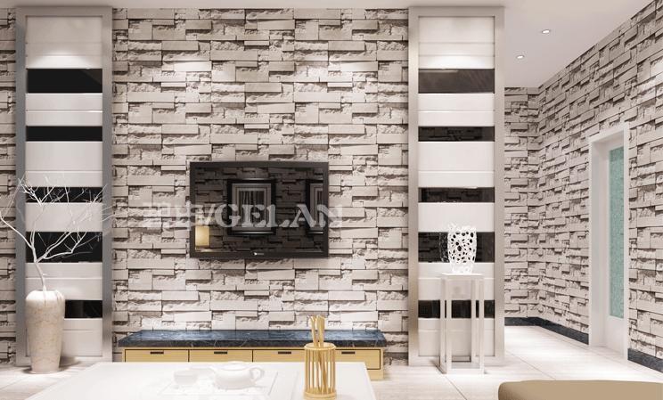 Compre estilo chino comedor papel tapiz 3d piedra for Patron de papel tapiz para sala comedor