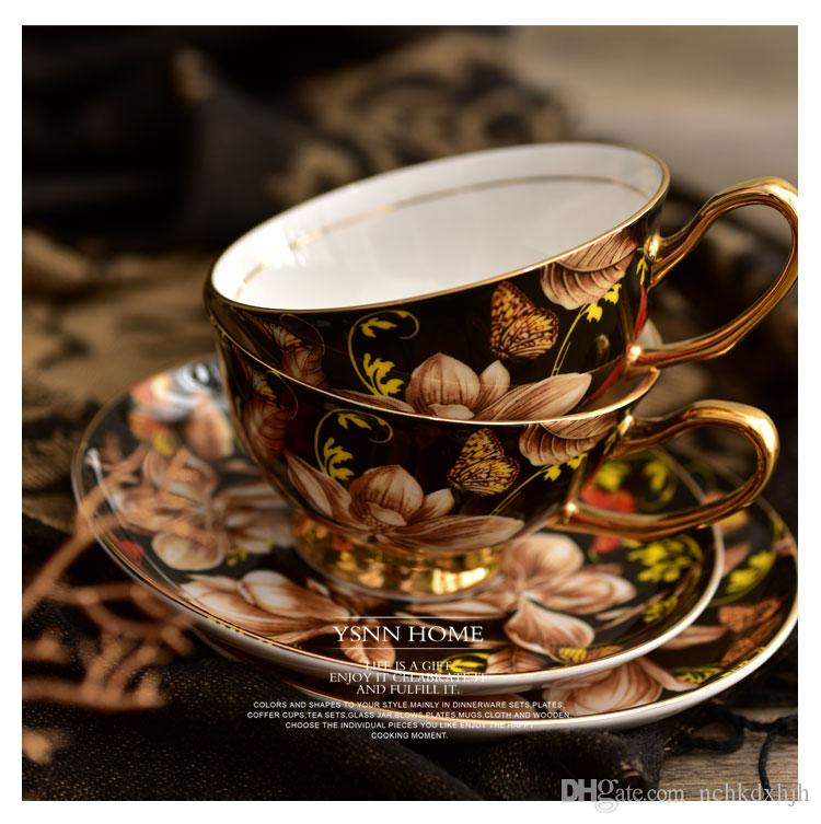 China Guangdong special ceramic flower pattern european style coffee tea cup good quality