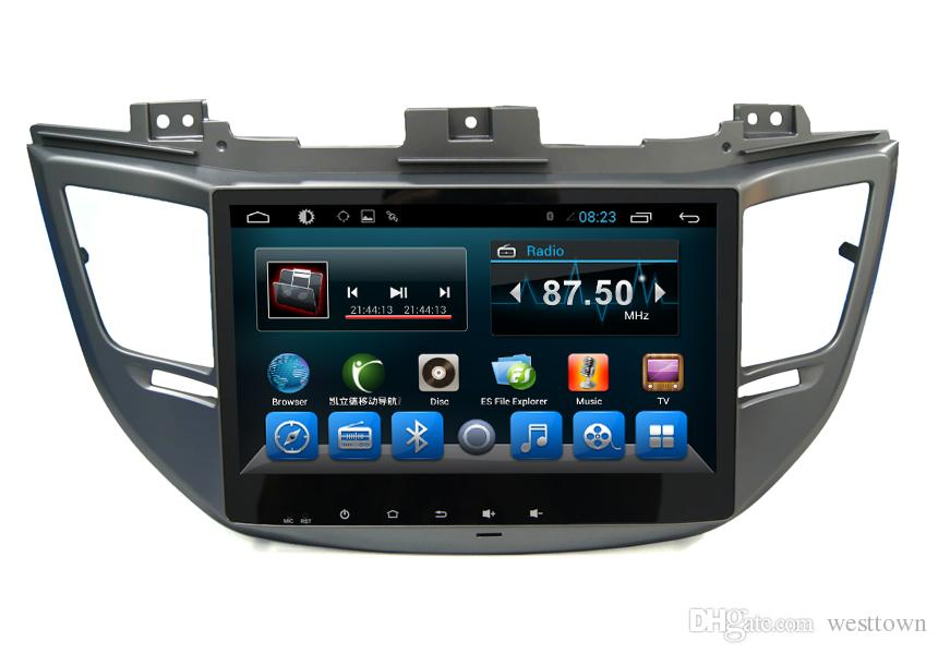 In Dash Car DVD GPS Navigation System for Hyundai Ix35 2015 Android Auto DVD Players Wifi TV BT Radio Big Screen