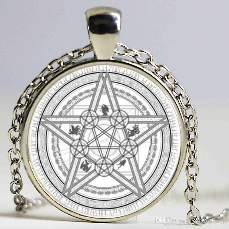 ... Gypsy Pentagram Witch Ste&unk Pendant Necklace Silver Bronze Chain Hexagon Necklace Heart Necklace Costume Jewelry From Xujiangyong $2.02| Dhgate.Com  sc 1 st  DHgate.com & Wholesale Magic Circle Space Moon Star Ouija Wicca Gypsy Pentagram ...