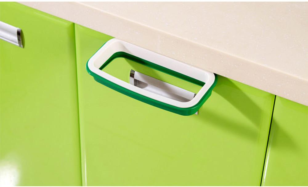 Can wash the kitchen door back type ambry trash can support bag to receive bag shelves TT2