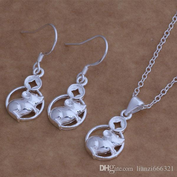 with tracking number New Fashion women's charming jewelry 925 silver 12 mix jewelry set 1449
