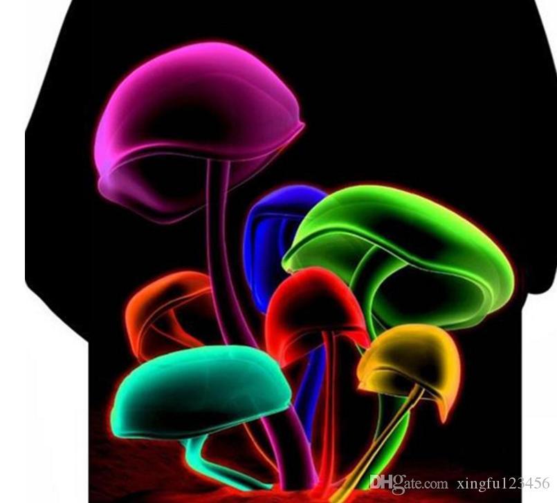 Felpa con cappuccio colorata con stampa a fungo colorata in vernice 3D color autunno / inverno