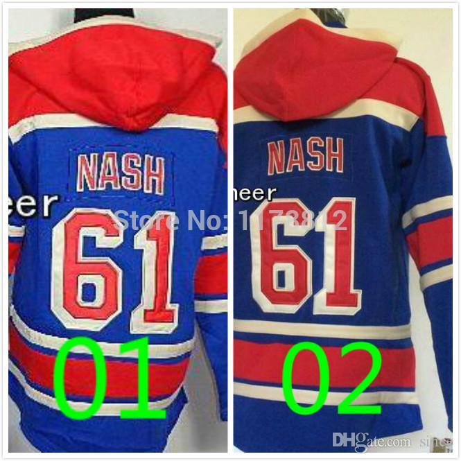 ... Cheap New York Rangers Hoodie 61 Rick Nash Hockey Hoodies Blue Hooded  Stitched Authentic New York Rangers Jerseys ... 7543e7e64
