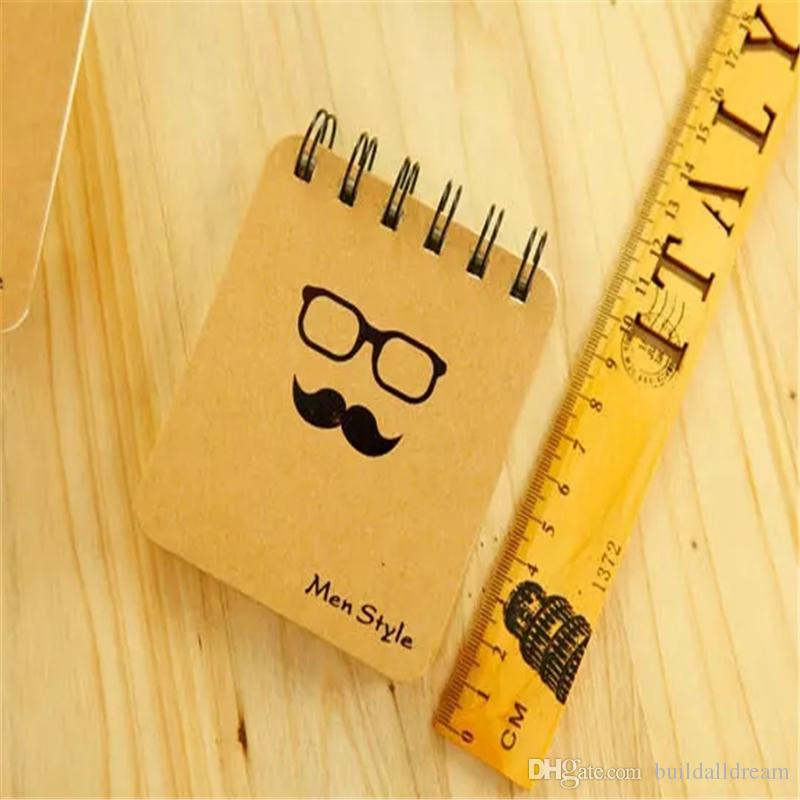 * Retro Design Men Style loose-leaf Memo Pads Coil Book Portable Pocket Notebook Diary Notepad, Size 10*8.5cm a904-a911
