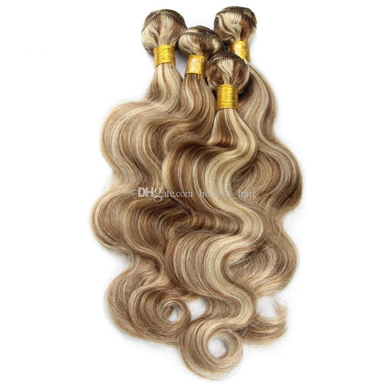 Mix Renk 8 613 İnsan Saç Paketler Piyano Renk Vücut Dalga Saç uzatma Ombre Ton Saç Örgüleri Brezilyalı Bakire 3 Demetleri