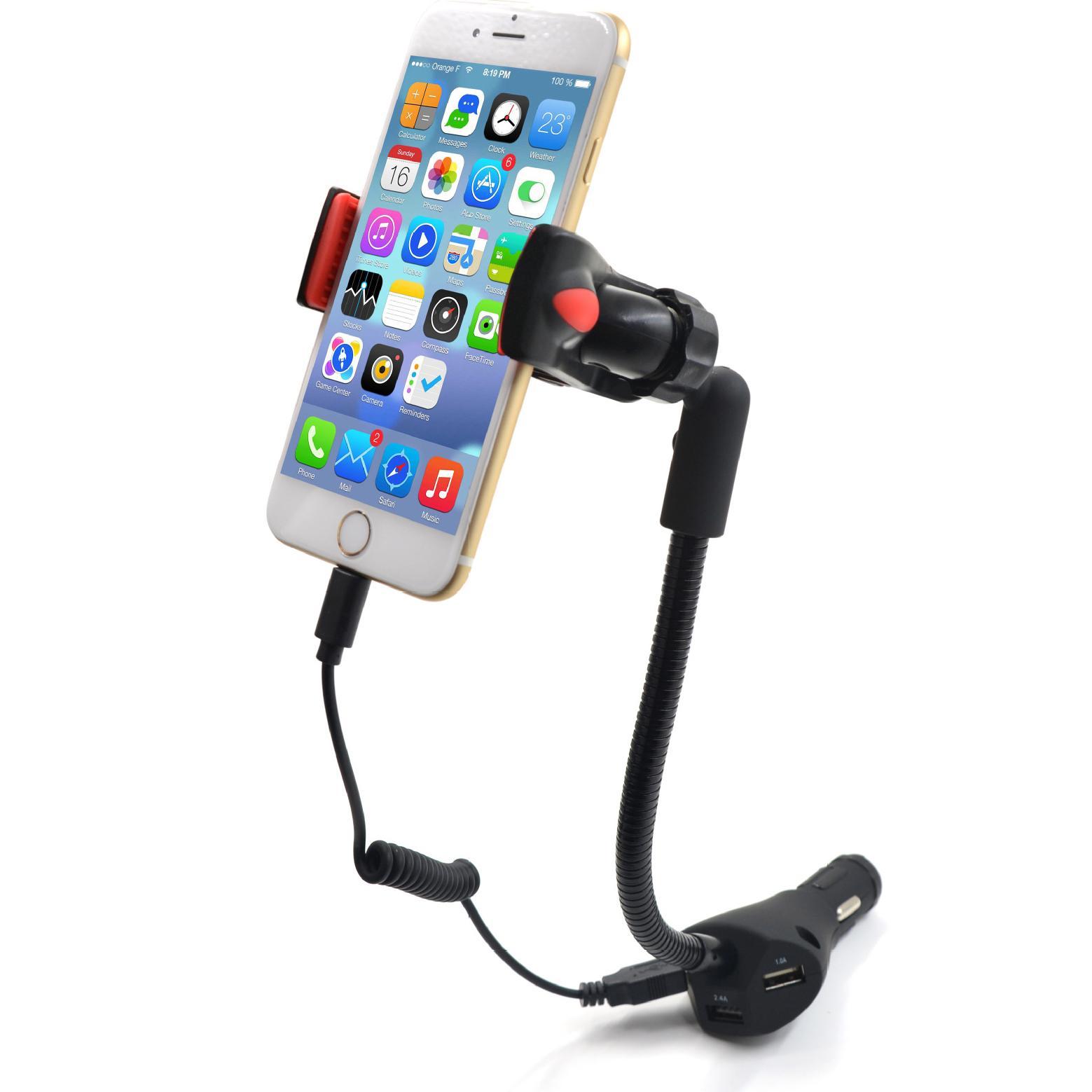 Handyhalterung Kfz Autotelefonhalter Mit 3 Usb Port Ladegerät 5v 5 5a Kfz Ladegerät Halterung Ständer Für Iphone Samsung Universal 3 5 6 3 Smartphones