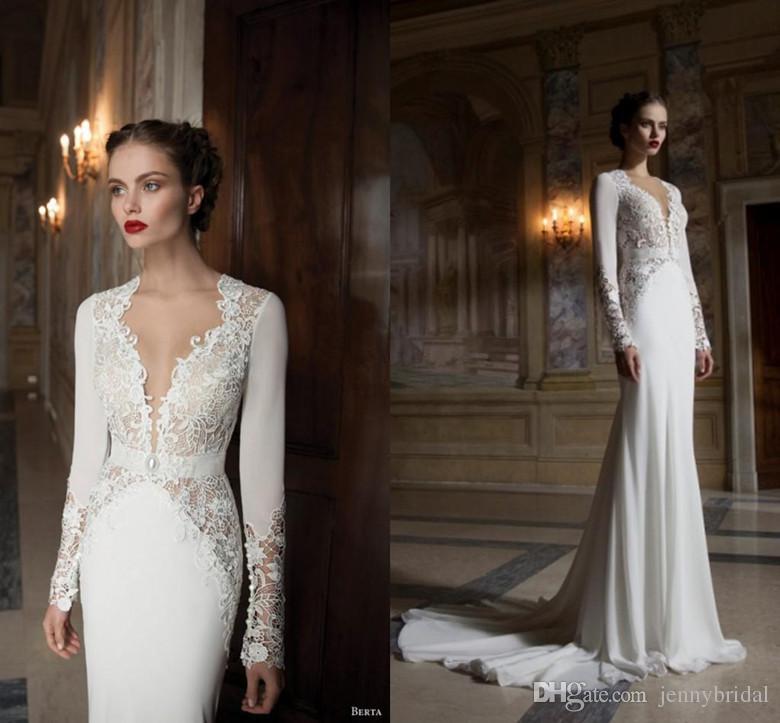 Großhandel Billig 2015 Sexy Brautkleider Lange Ärmel Spitze ...