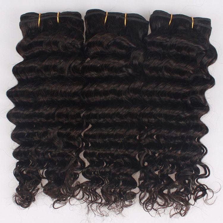 "Wet and Wavy Brazilian Deep Wave Hair Weaving Bundles,8-30"" Bouncy Tight Brazilian Virgin Remy Deep Curly Human Hair Sew In Extension Weaves"