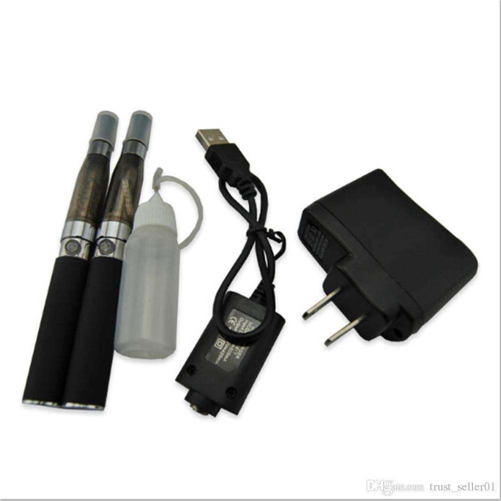 Electronic Cigarettes eGo-T CE4 double starter kits Ego 650 900 1100 mah battery ECigarette ce4 vaporizer atomizer tanks vape pens case kit