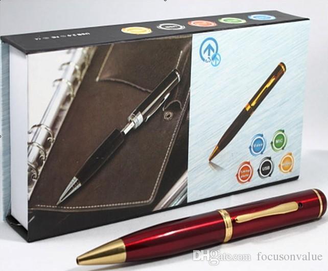 8 GB kalem kamera HD Kalem DVR pinhole kamera mini Ses Video Kaydedici mini Kalem kamera siyah / mavi / kırmızı perakende kutu dropship