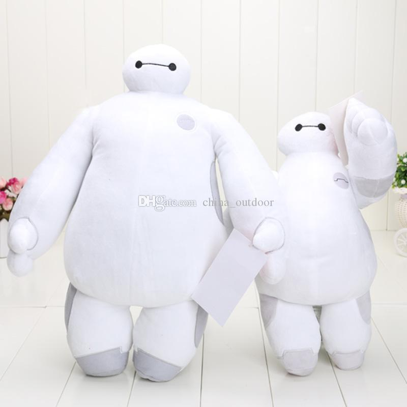 30cm y 38cm blanco Cartoon Movie Big Hero 6 Baymax muñecos de peluche de felpa Baymax puede elegir el estilo
