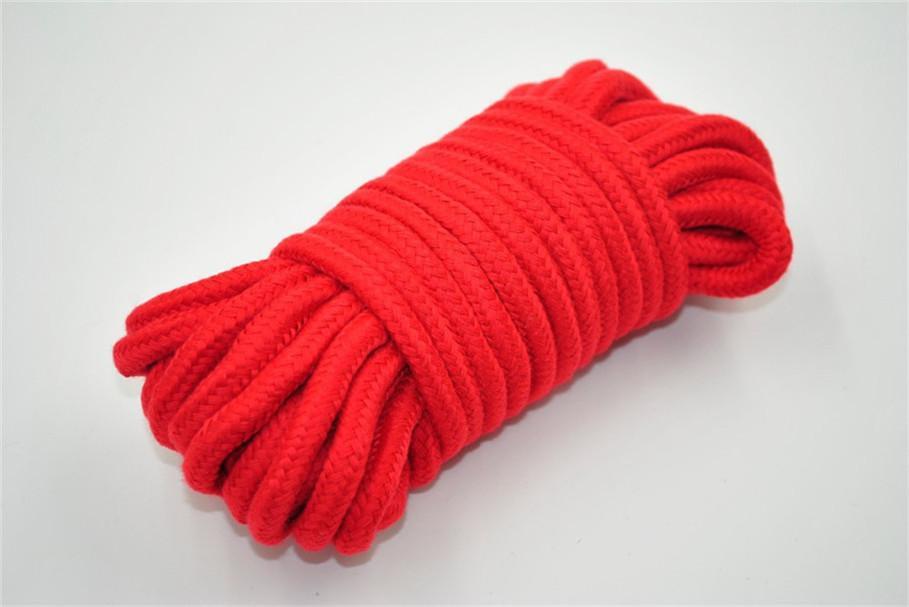 Nero Rosso 10 m lungo di cotone di spessore fetish bondage corda bondage harness corpo adulto flirtare giocattoli gioco coppie spedizione gratuita su saale