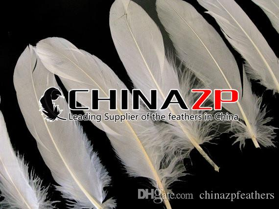 Leading Supplier CHINAZP Crafts Factory Length 10~15cm4~6inch Cheap Good Quality Fantastic Decorative Dyed Ivory Goose Wing Feathers
