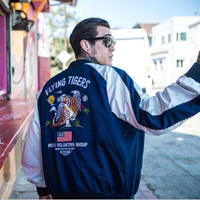 Sportbekleidung Bekleidung Herren Vogue Stickerei Tiger Baseball Jacken Street Casual Fashion Bomberjacke Mäntel