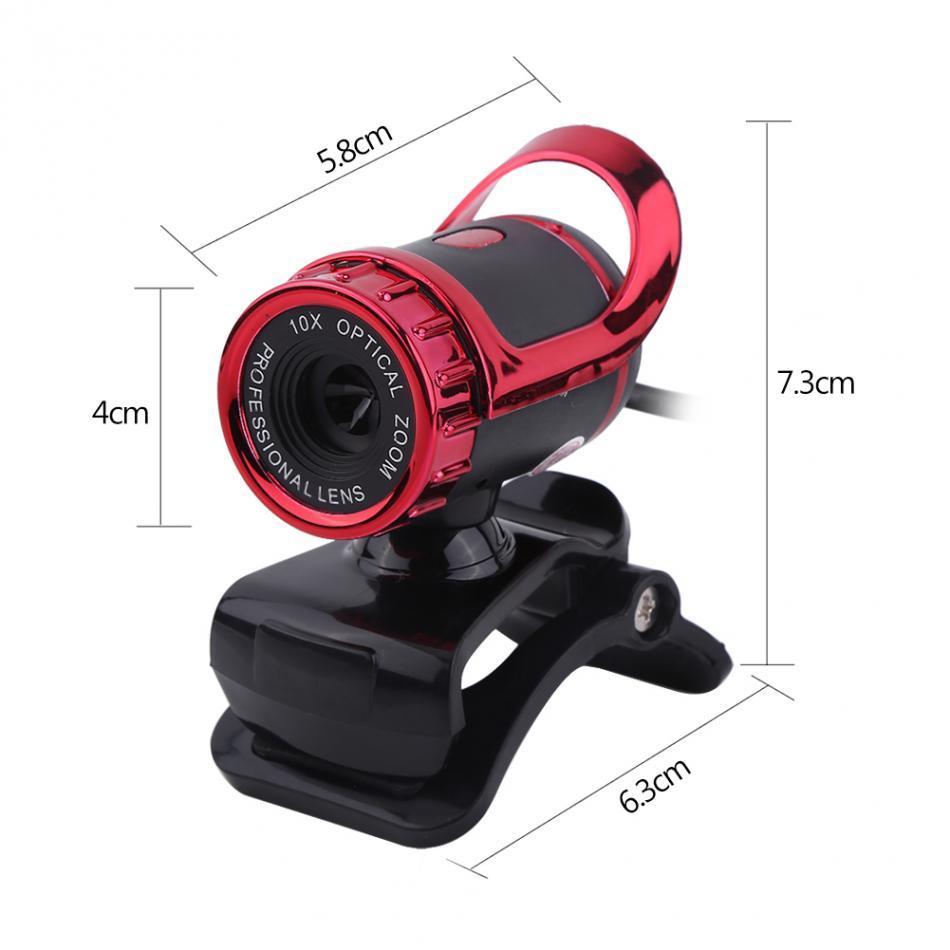 VBESTLIFE USB 2.0 12M Pixels Câmera Clip-on Webcam HD 360 Rotação Stand Microfone Embutido para PC