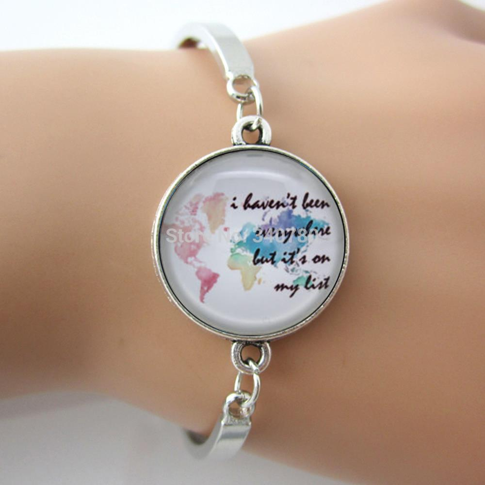 World Map Bracelet I Haven T Been Everywhere But It S On My List