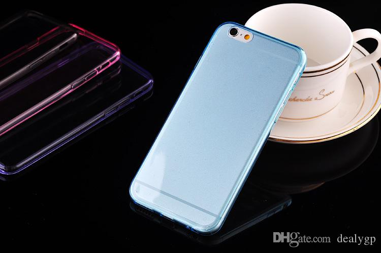 0.3mm TPU Case Crystal Clear Cell Phone Cases Cover for iPhone 6/6 Plus 4 4s 5 5s for LG G2 G3