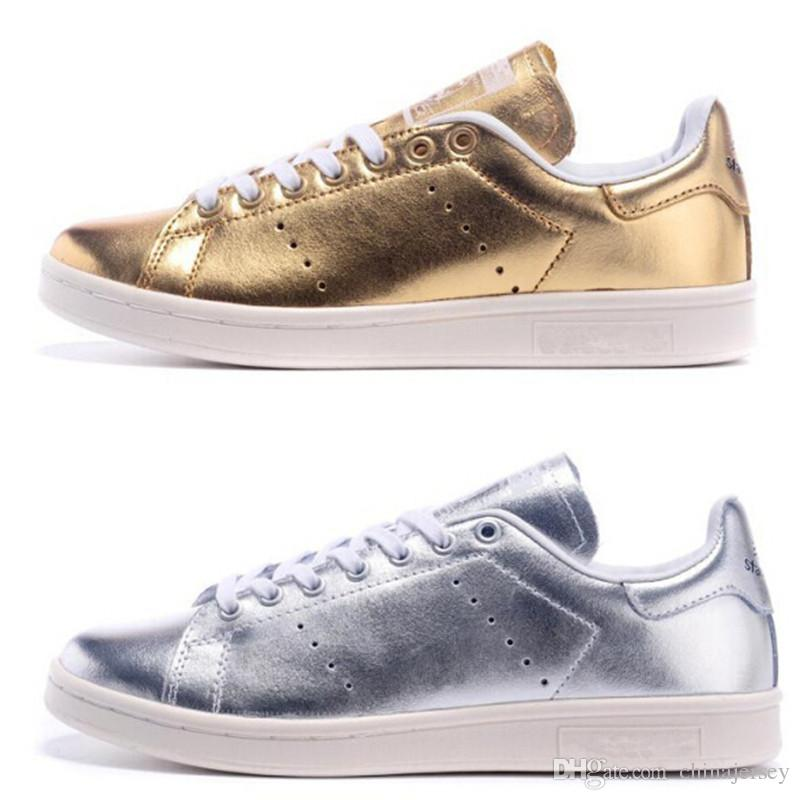 stan smith gold mujer