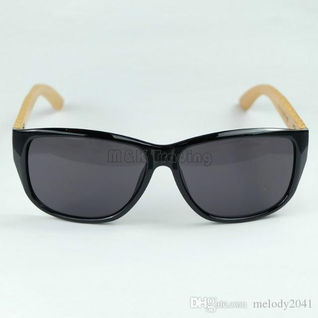 Vintage Mens Sport Sunglasses Designer Wood Sun Glasses Round Frame Cool Black Eyewear